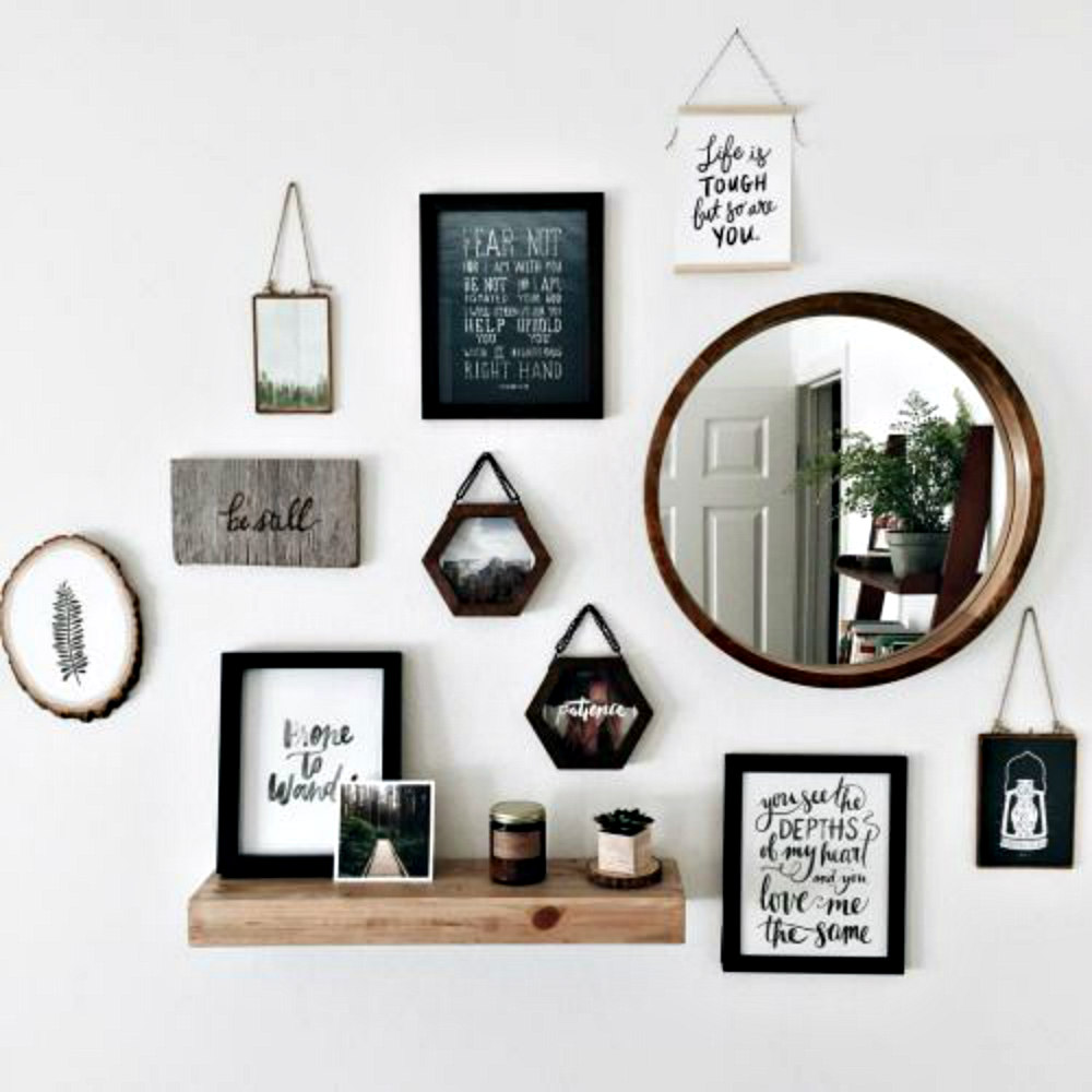 Nordic salon style wall