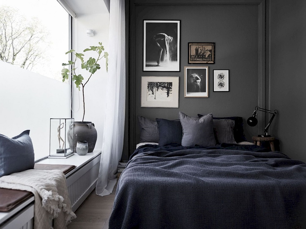 10 Dark and Moody Scandinavian Bedrooms to Lull You into Dreamland ...